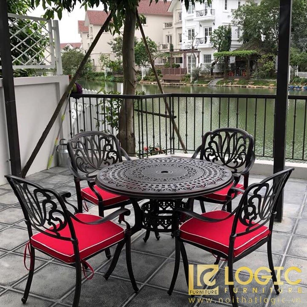 bàn ghế sân vườn bằng hợp kim nhôm đúc